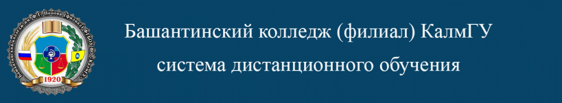 Система дистанционного обучения Башантинского колледжа (филиал) КалмГУ